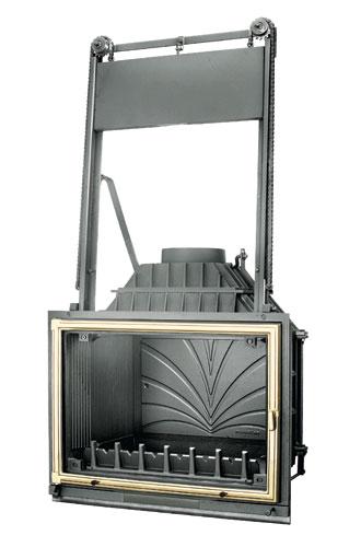 Фото Топка FABRILOR DECO 760 DO BR  с подъемной латунной дверцей