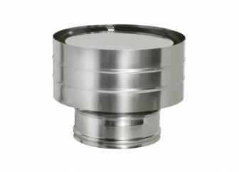 Фото Дымок - Дефлектор на трубу с изол. (оголовок с ветрозащитой), d=200/280, AISI 439/439, 0,5/0,5мм