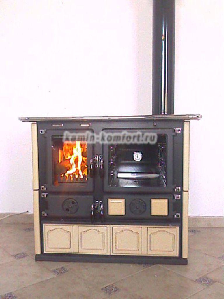 Фото Печь камин с варочной панелью и духовым шкафом