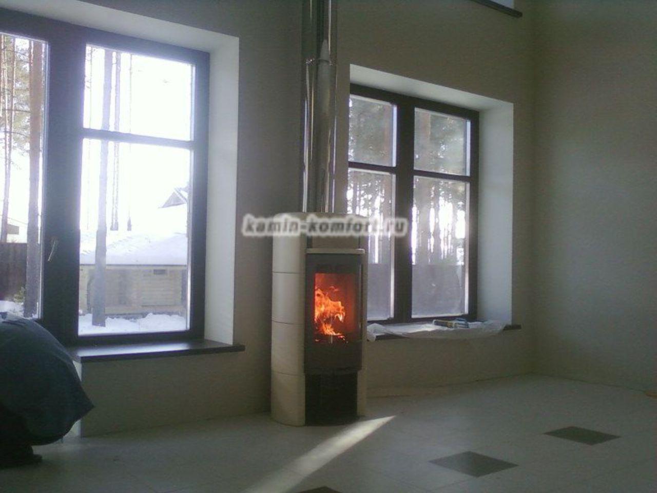 Фото Печь камин в частном доме