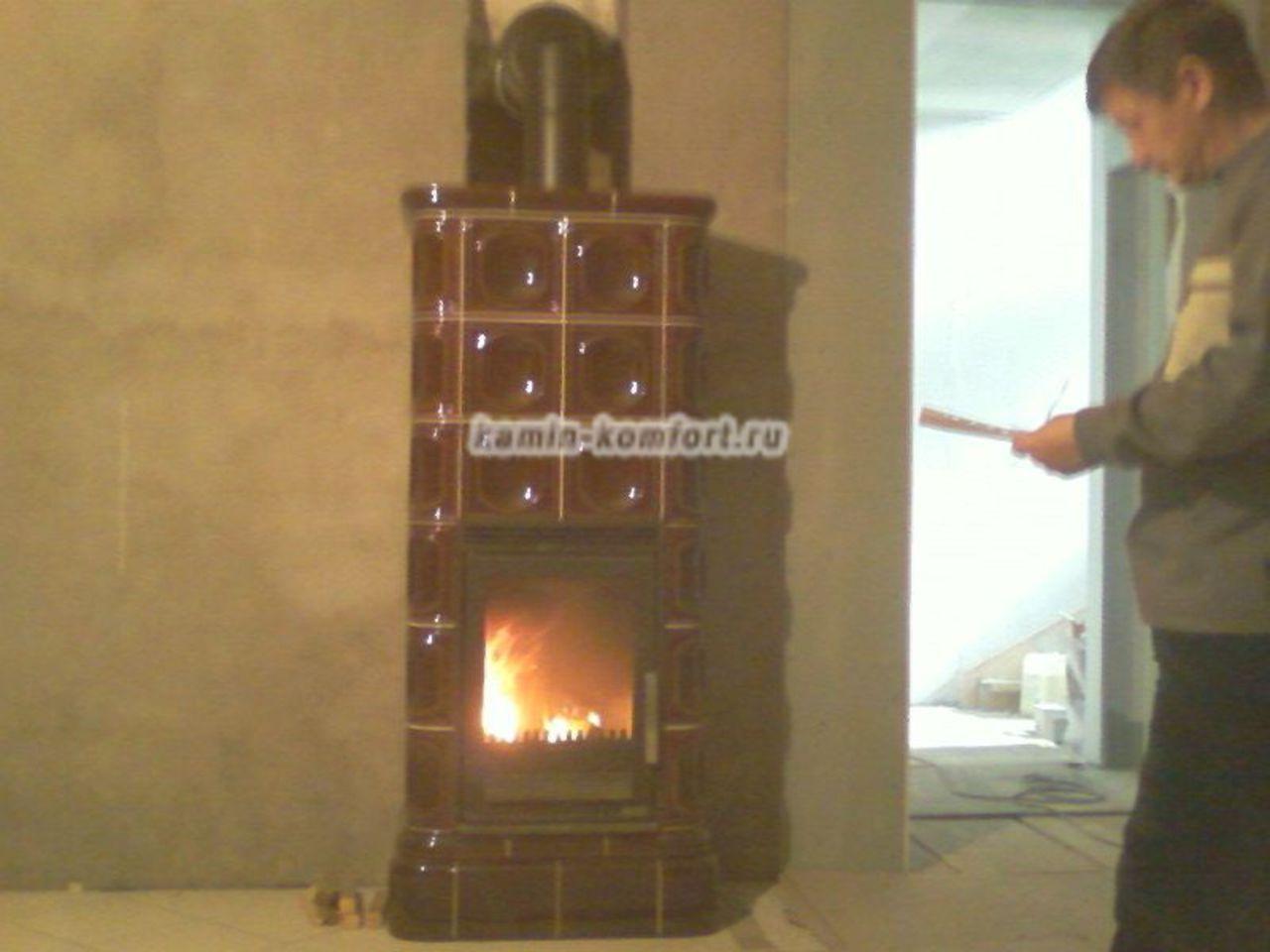 Фото Изразцовая печь камин ABX