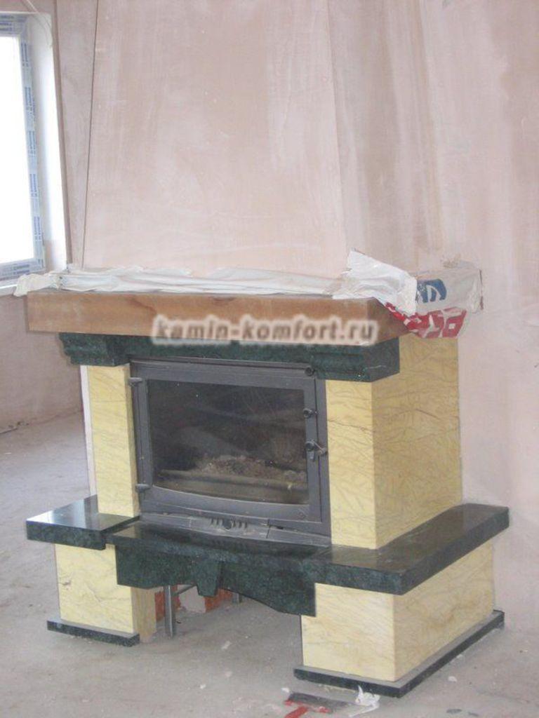 Фото Подготовка каминного короба к отделке