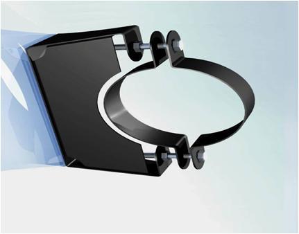 Фото Стеновой кронштейн с полимерным покрытием 1,5 d-120