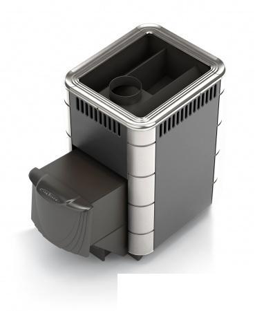 Фото Печь банная Термофор КОМПАКТ INOX антрацит, нерж.вставки, шт