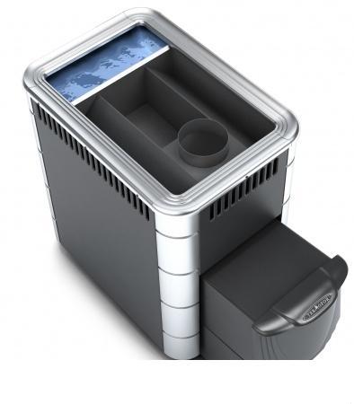 Фото Печь банная Термофор КОМПАКТ INOX, бак, антрацит, нерж.вставки, шт