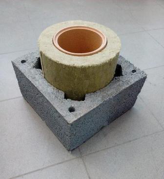 Фото ф 200 одноходовой 8 метр/ комплект керамического дымохода