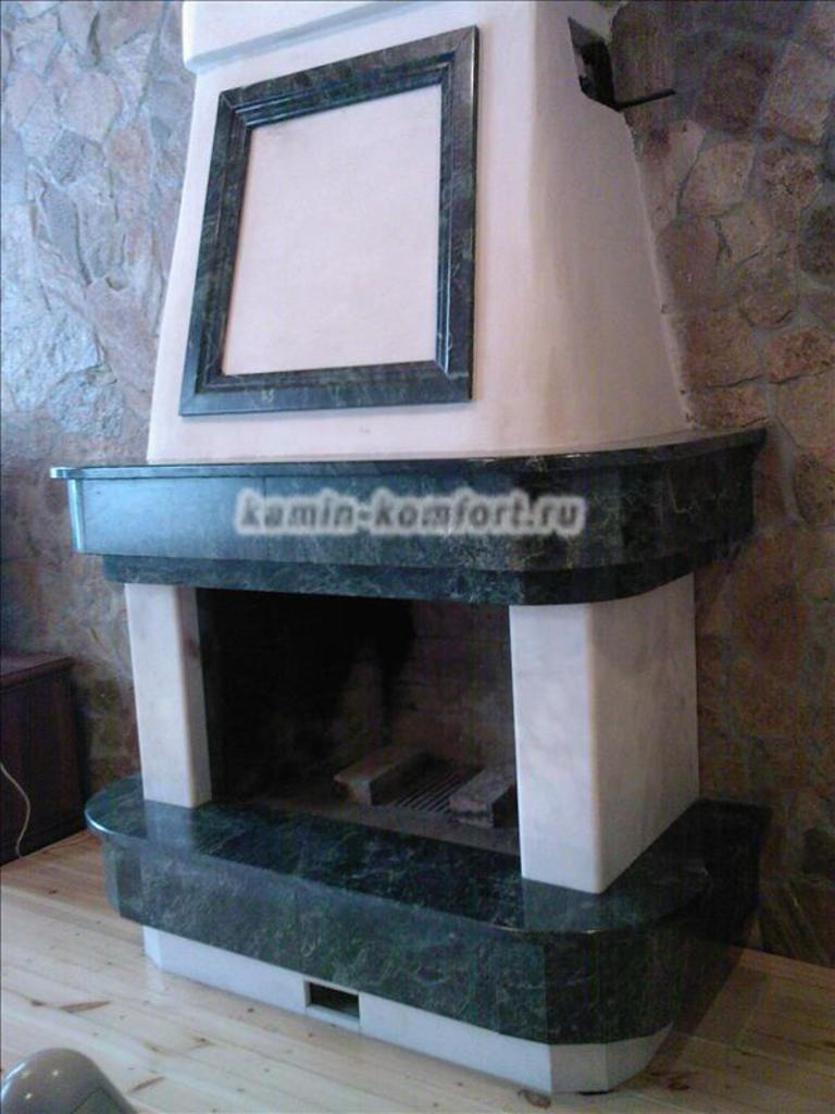 Фото Индивидуальный, пристенный камин