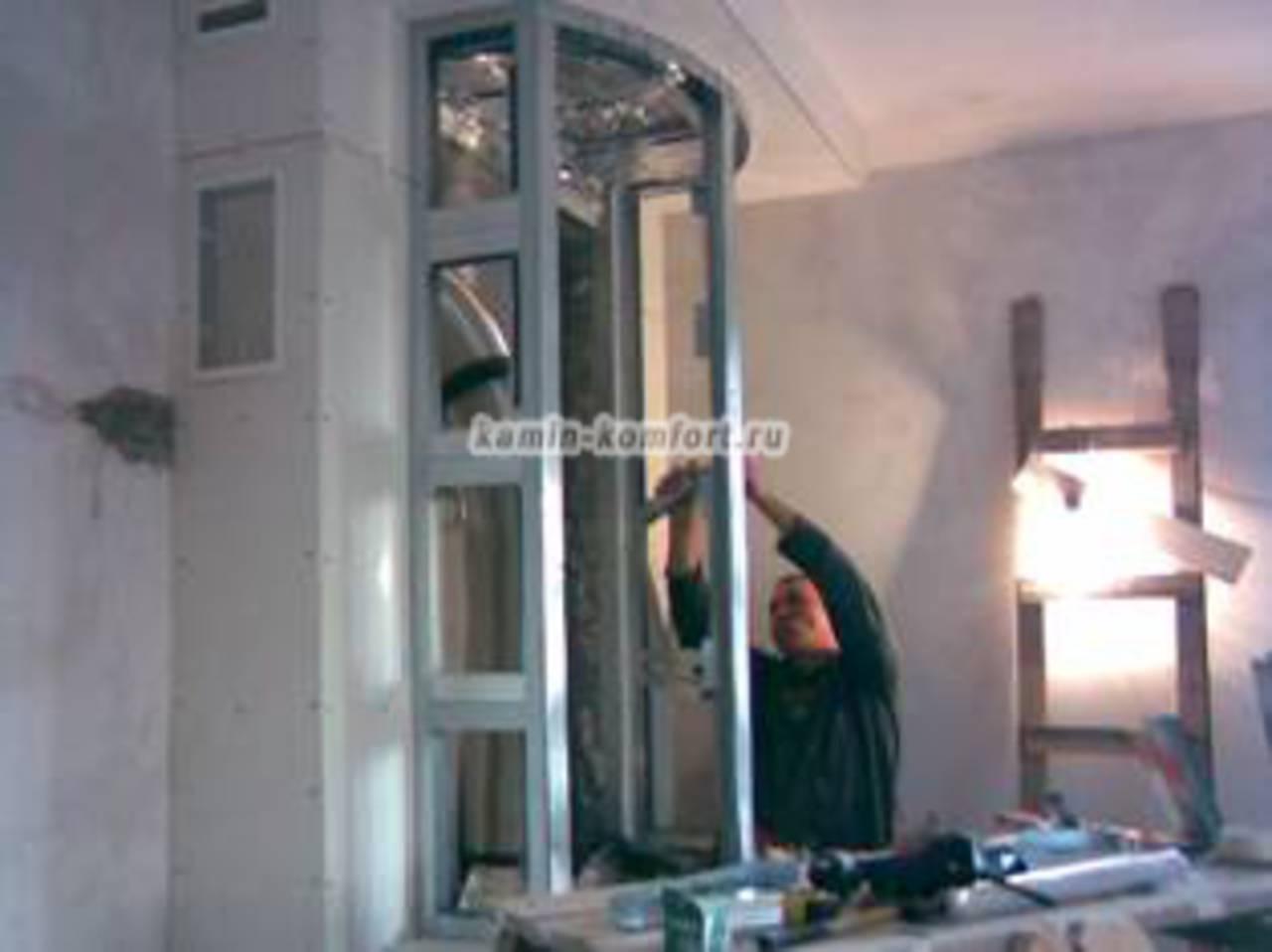 Фото Этапы сборки термо-короба камина