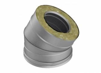Фото Отвод с изоляцией 30°, D=200/300, полированный, AISI 321/304 0,8/0,5мм