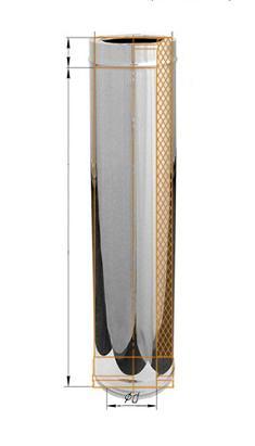 Фото Феррум - Дымоход двустенный, по воде L=1000, D=115/200, AISI 430/430, 0,5/0,5 мм