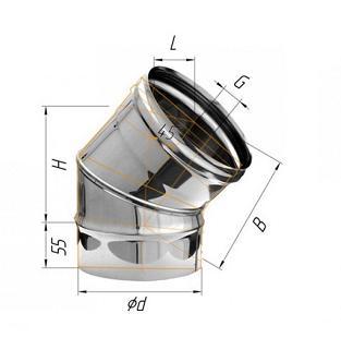 Фото Феррум - Колено 135°, D=115, AISI 430, 0,5 мм