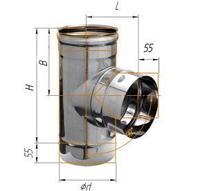 Фото Феррум - Тройник 90°, D=115, AISI 430, 0,5 мм