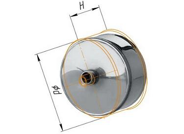 Фото Феррум - Заглушка М с конденсатоотводом D=200, AISI 430, 0,5 мм
