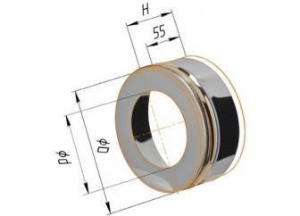 Фото Феррум - Заглушка с отверстием D=120/200, AISI 430/430, 0,5/0,5 мм