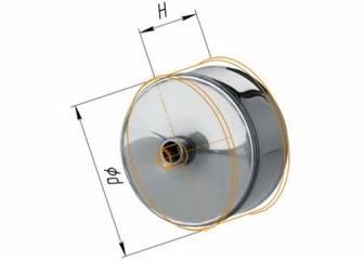 Фото Феррум - Заглушка М с конденсатоотводом D=120, AISI 430, 0,5 мм