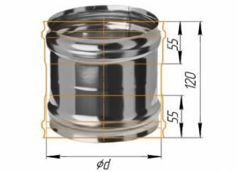 Фото Феррум - Адаптер ММ для печи D=150, AISI 430, 0,8 мм