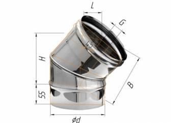Фото Феррум - Колено 135°, D=150, AISI 430, 0,5 мм