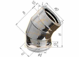 Фото Феррум - Колено двустенное 135°, по воде D=150/210, AISI 430/430, 0,8/0,5 мм