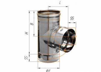 Фото Феррум - Тройник 90°, D=150, AISI 430, 0,8 мм