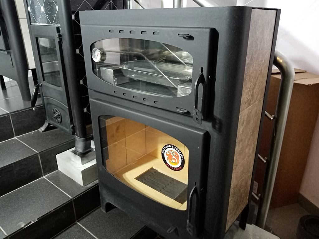 Изображение Печь-камин БАВАРИЯ с плитой и духовым шкафом 2