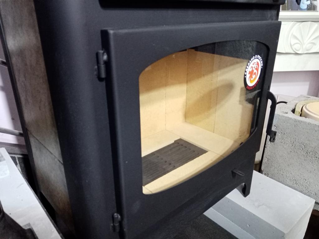 Изображение Печь-камин БАВАРИЯ с плитой и духовым шкафом 9
