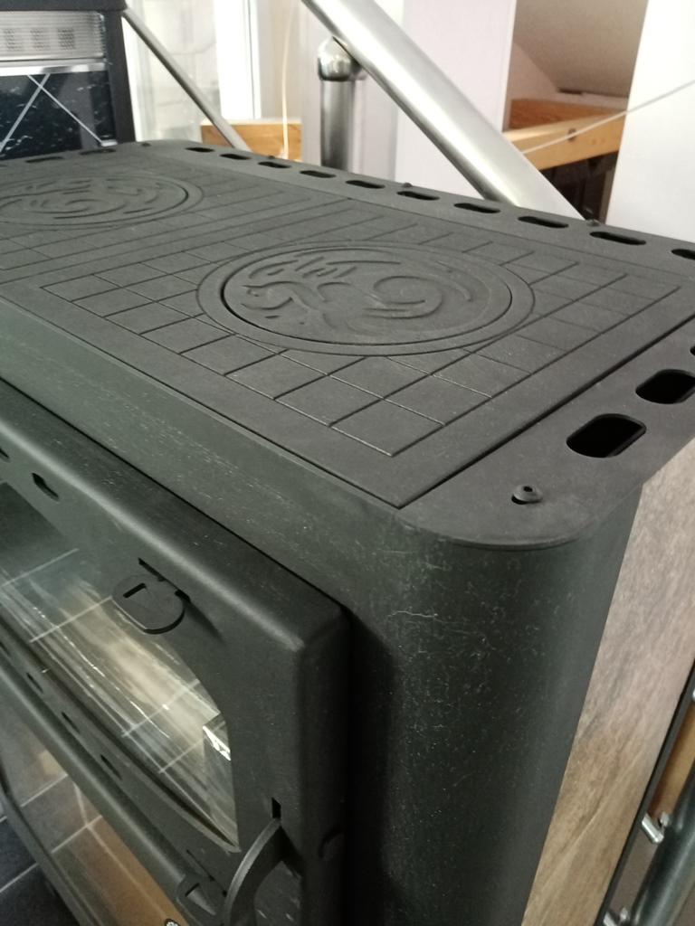 Изображение Печь-камин БАВАРИЯ с плитой и духовым шкафом 17