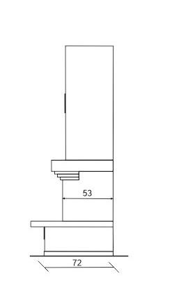 Камин Глория, схема, вид сбоку